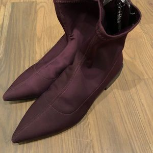 Nylon pointed toe boots